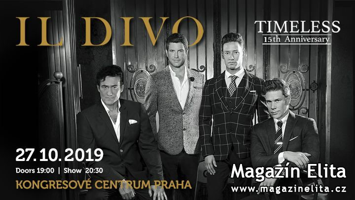Il Divo přiveze do Prahy show Timeless 15th Anniversary!